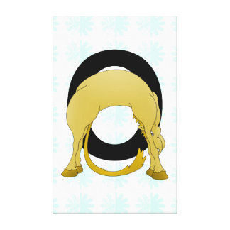 Monogram O Flexible Pony Personalised Canvas Prints