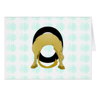 Monogram O Flexible Pony Personalised Cards