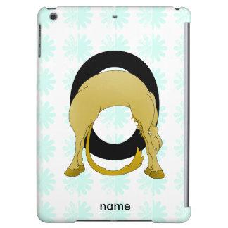 Monogram O Flexible Pony Personalised Case For iPad Air