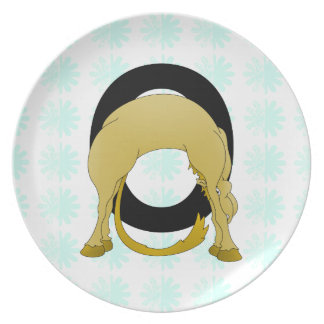 Monogram O Flexible Pony Personalised Party Plates