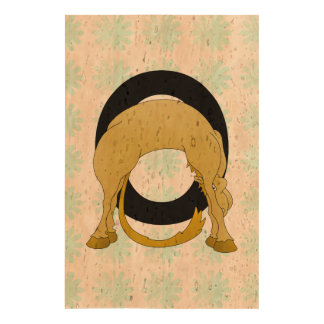 Monogram O Flexible Pony Personalised Cork Paper Print