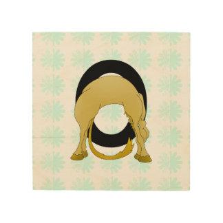 Monogram O Flexible Pony Personalised Wood Prints