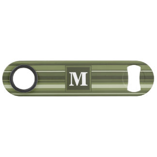 Monogram olive green stripes