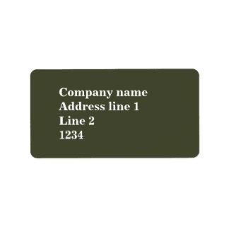 Monogram olive green stripes address label