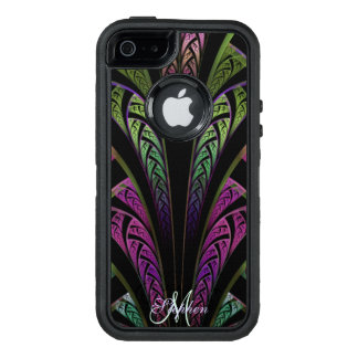 Monogram Olive Green Violet Purple Fractal Case
