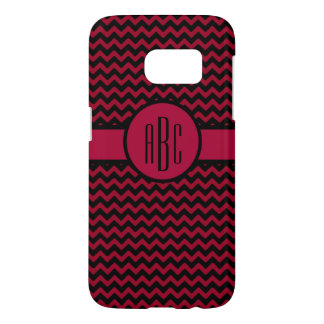 Monogram on Garnet and Black