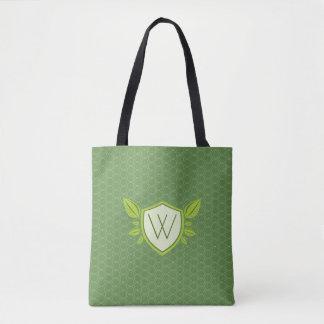 Monogram on Leaf Shield | Tote