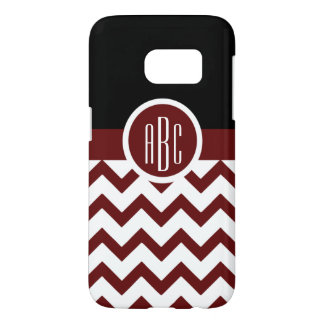 Monogram on Maroon and White