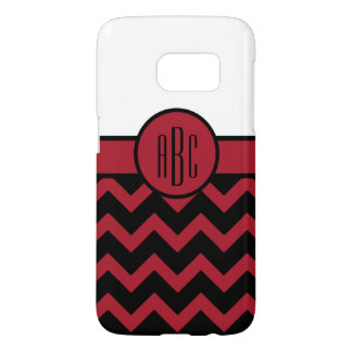 Monogram on Red and Black
