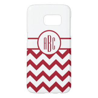 Monogram on Red and White