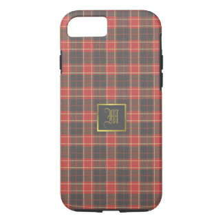 Monogram on Scottish pattern iPhone 8/7 Case