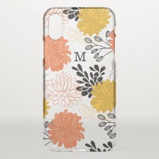 Monogram on Spring Flowers iPhone X Case