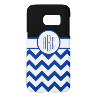 Monogram on White and Blue