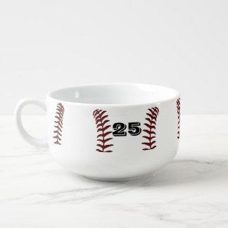 Monogram or Number Large Soup Mugs with Handles Soup Mug