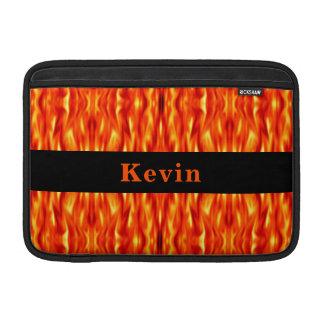 Monogram Orange Abstract Fire MacBook Air Sleeve