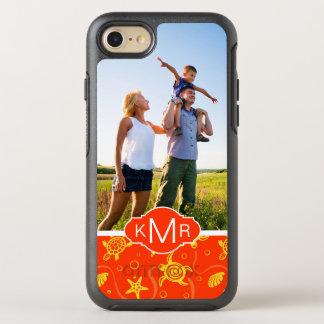 Monogram | Orange Beach Pattern OtterBox Symmetry iPhone 8/7 Case