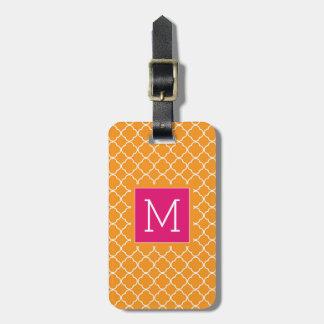 Monogram | Orange Trefoil Luggage Tag