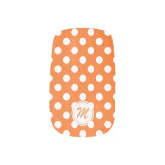 Monogram: Orange With White Polkadot Minx Nails Minx ® Nail Art