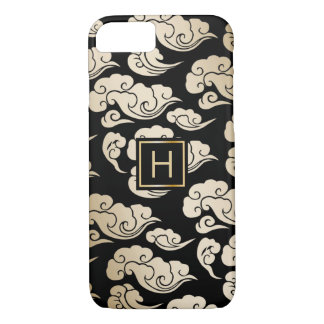Monogram Oriental Gold Cloud Pattern iPhone 7 iPhone 7 Case