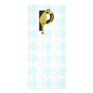 Monogram P Flexible Foal Personalised Full Color Rack Card