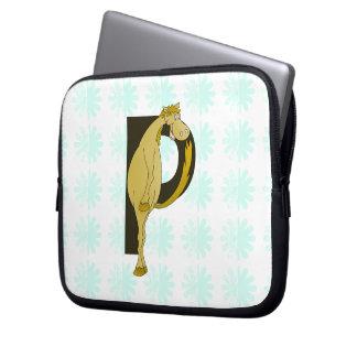 Monogram P Flexible Pony Personalised Laptop Computer Sleeves