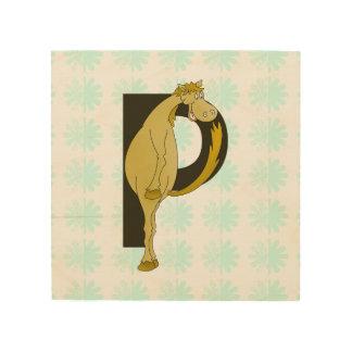 Monogram P Flexible Pony Personalised Wood Canvas