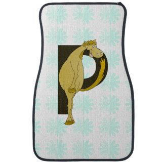 Monogram P Flexible Pony Personalised Floor Mat