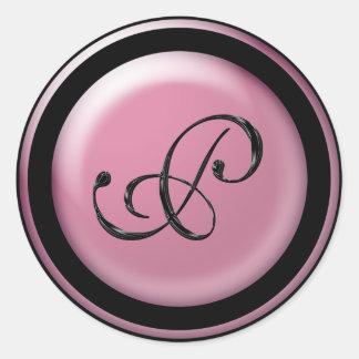 Monogram P Round Sticker