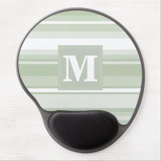 Monogram pale green stripes gel mouse pad