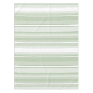 Monogram pale green stripes tablecloth