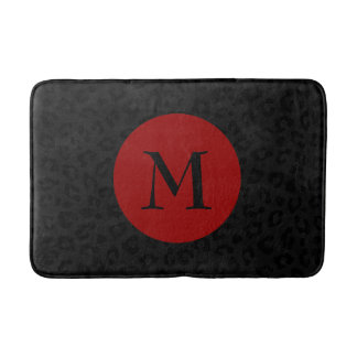 Monogram Panther Print Bath Mat