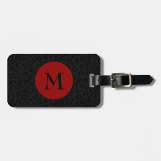 Monogram Panther Print Luggage Tag