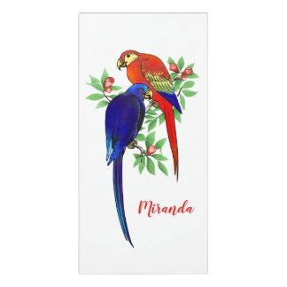 Monogram Parrots Flowers Colorful Room Sign