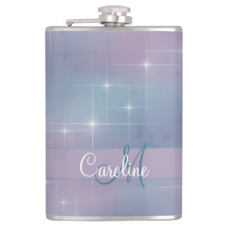 Monogram Pastel Nebula Hip Flask