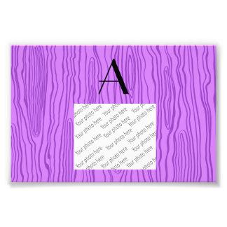 Monogram pastel purple faux bois photo
