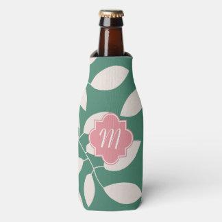 Monogram Pattern Bottle Cooler Cozy