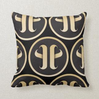 Monogram pattern cushion
