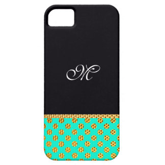 Monogram Pattern Cute Girly Mint Modern Initial Case For The iPhone 5