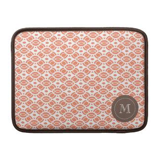 Monogram Pattern Mac Book Air Sleeve Orange MacBook Sleeves