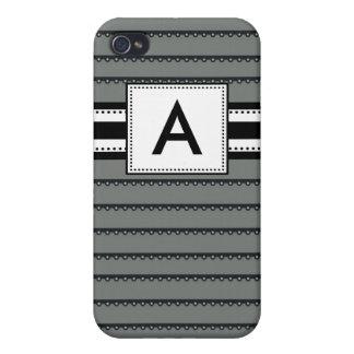 Monogram Pern Black Stripe Case For The iPhone 4