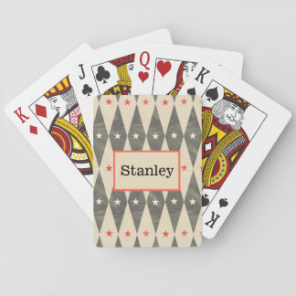 Monogram Personalised Red Black Poker Playing Card