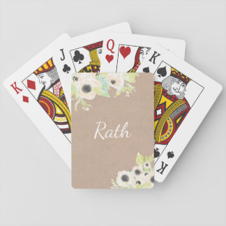 Monogram Personalised Wedding Poker Playing Cards