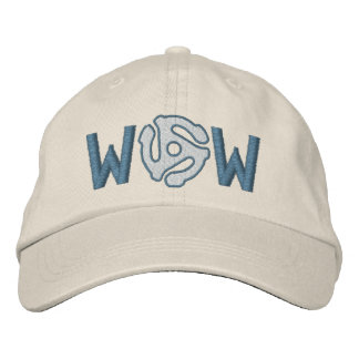 Monogram Personalize 45 spacer DJ embroidered cap Embroidered Baseball Caps