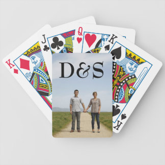Monogram Photo Template Playing Cards