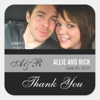 Monogram Photo Wedding Favor Stickers