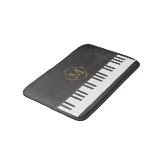 Monogram piano bath mat
