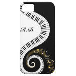 Monogram Piano Keys and  Musical Notes iPhone 5 Cases