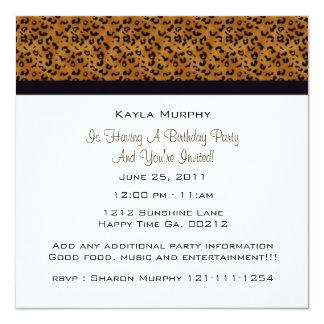 Monogram: Picture: Leopard Print Invitations