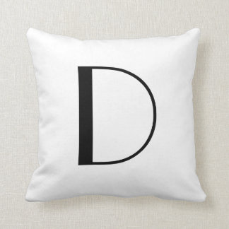 Monogram Pillows Letter D