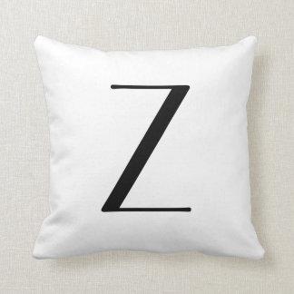 Monogram Pillows Letter Z